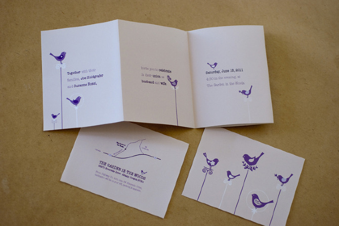 wedding invitation set portfolio