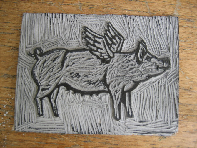 Lino Cut-outs and Collagraph Plates - Naomi Jones Illustration