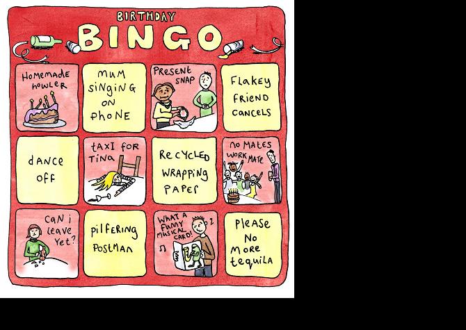 Bingo Greeting Cards Leahpetrina
