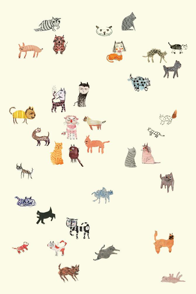 Illustration - Street Cats - michaeliran