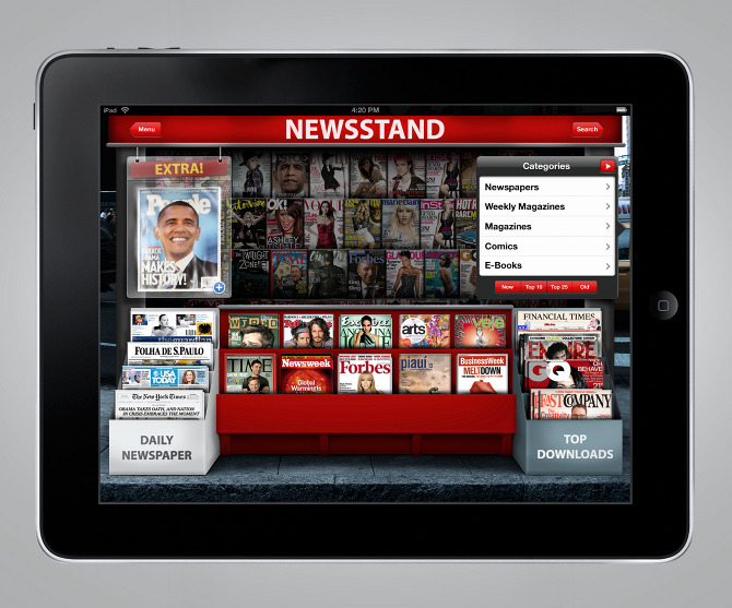 how to delete newsstand from ipad