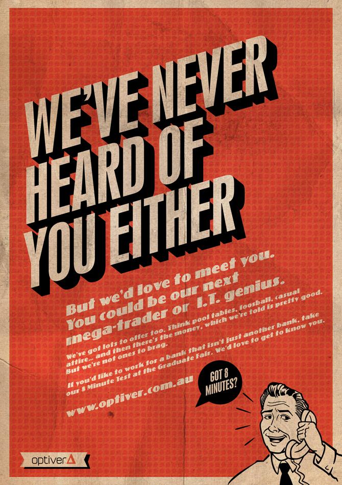 Optiver | Recruitment Campaign - Dave Clough - Creative Director