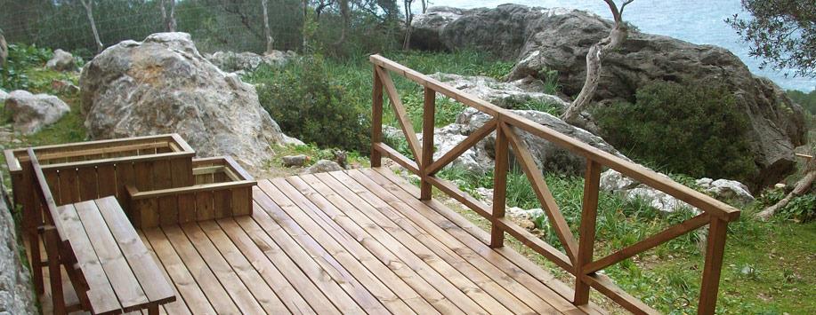 Trabajos con madera   paisajismo arteche. jardinería ...