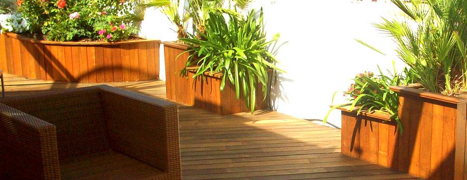 Terrazas y jardineras paisajismo arteche jardiner a - Jardineras para terrazas ...