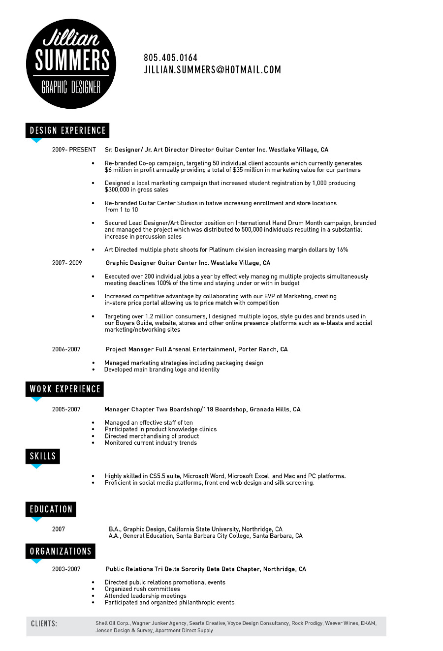 Examples Of Creative Graphic Design Resumes Inspirationfeed
