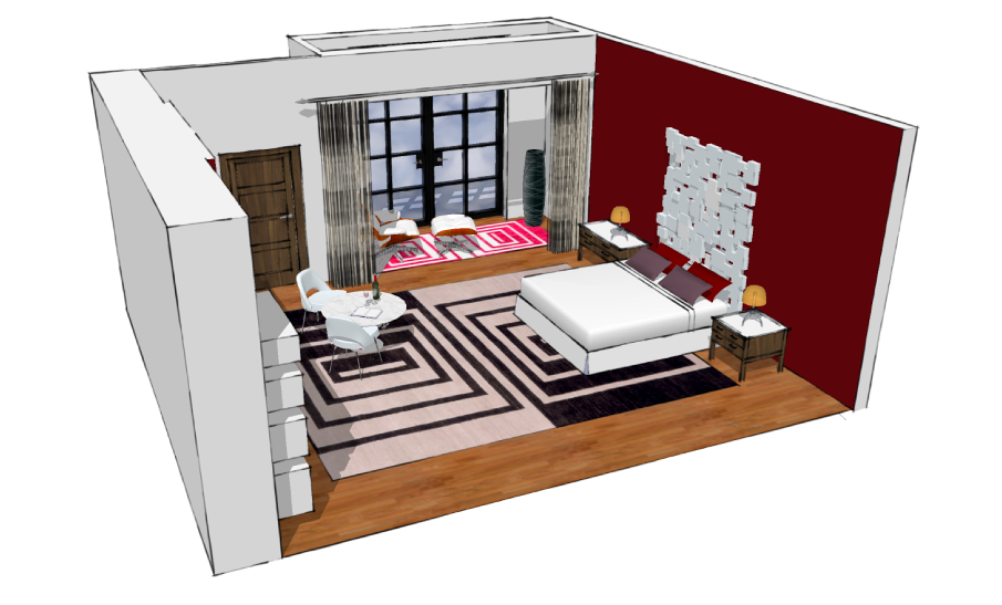 CAD project for New York residence Paul Langston Interior Design