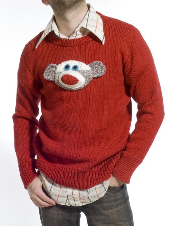 Knitting Pattern For Sock Monkey Sweater : Stitch - Rebecca Yaker