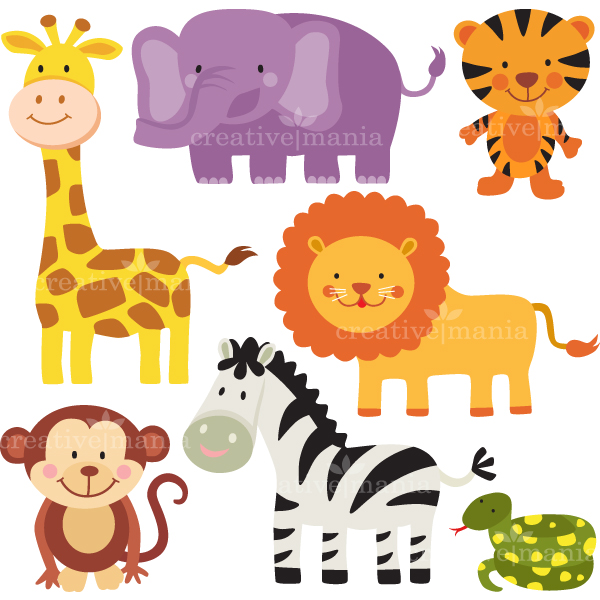 jungle animals Movie about animals in the jungle with colorful animation and fun sounds preschool and kindergarten activities.