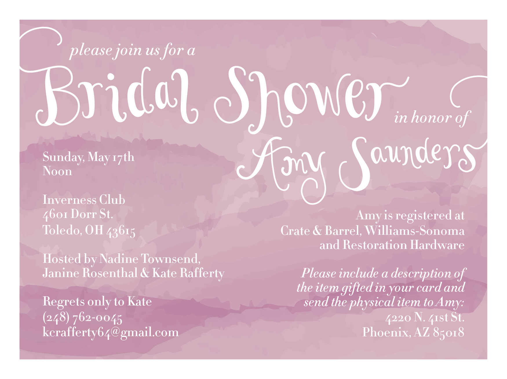Wedding Design - Hannah Saunders | Art Director