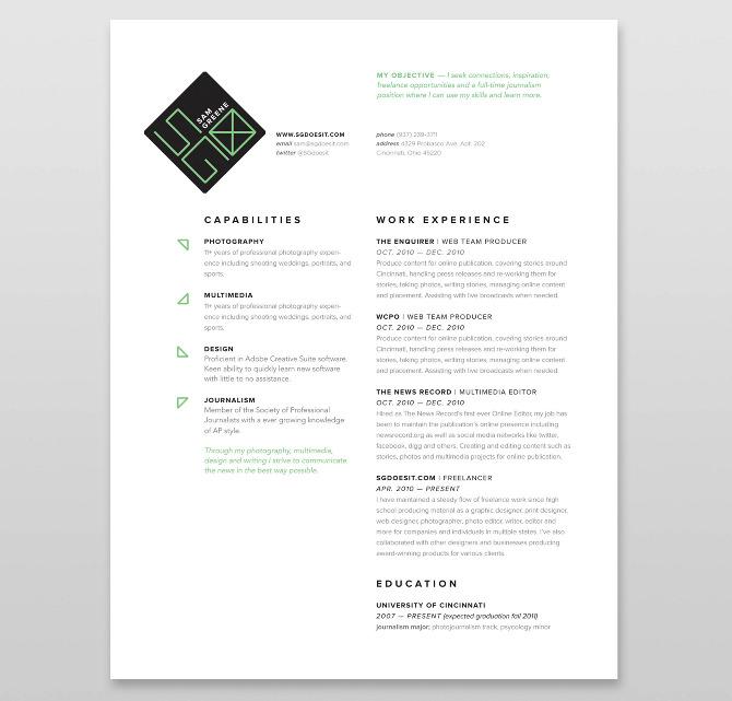 journalist branding - jamie ritzer—graphic designer