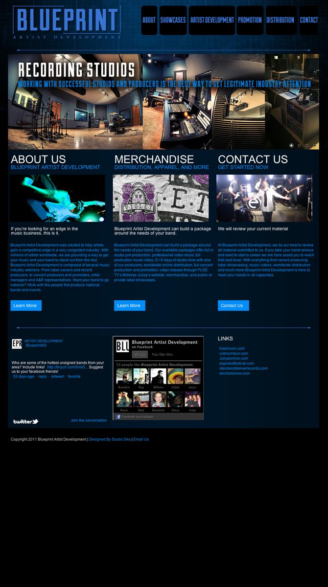 Blueprint artist development site studio siks malvernweather Choice Image