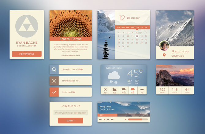 UI Kit - 2014 - bachedesign com - Personal network