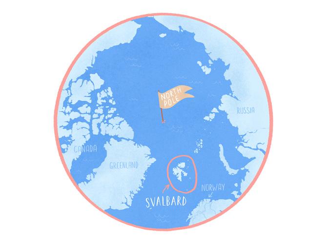 Maps of Svalbard - Vaimiti Tragin: Design & Illustration