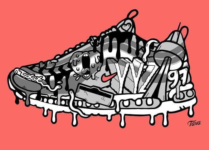 save off ef2cc 0225c I overlay drawings of maple leafs, logos, beavers and YYZ Airport codes  onto the classic AM1, Am90, AM97, AM Zero and AM BW silhouettes.