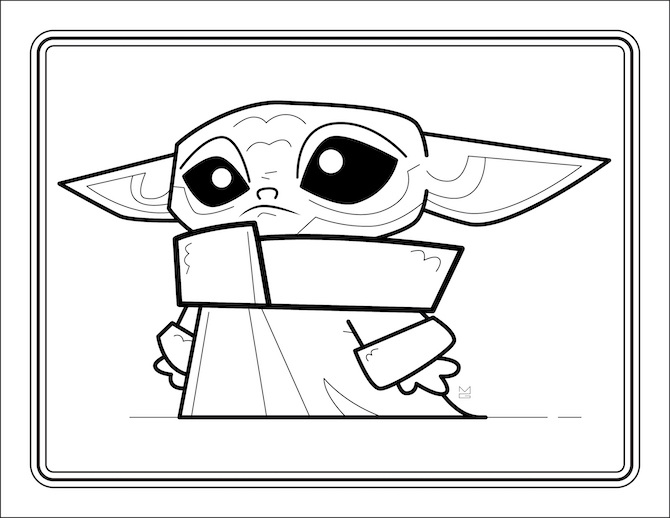 Star Wars Coloring Pages Master Yoda And Baby Small Yet Powerful ... | 518x670