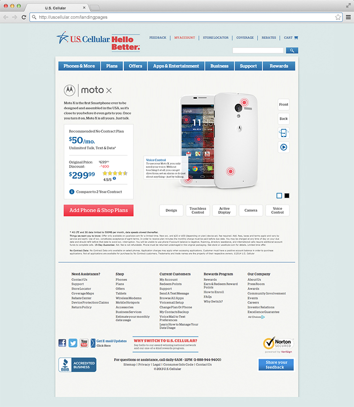 U S  Cellular - Landing Pages - Chris Vandette
