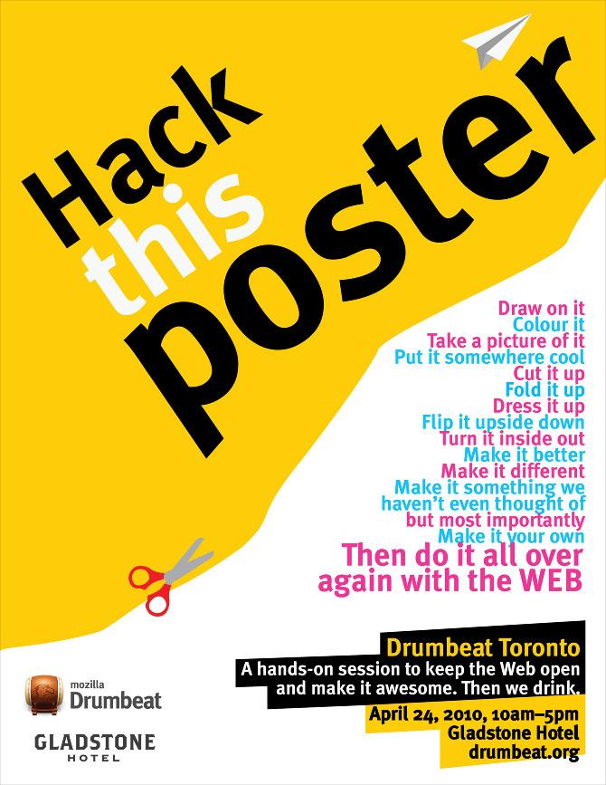 mozilla s drumbeat event poster creative lab