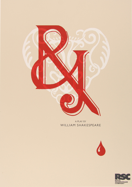 Romeo And Juliet Book Cover Ideas ~ Romeo juliet typographic shakespeare poster for rsc