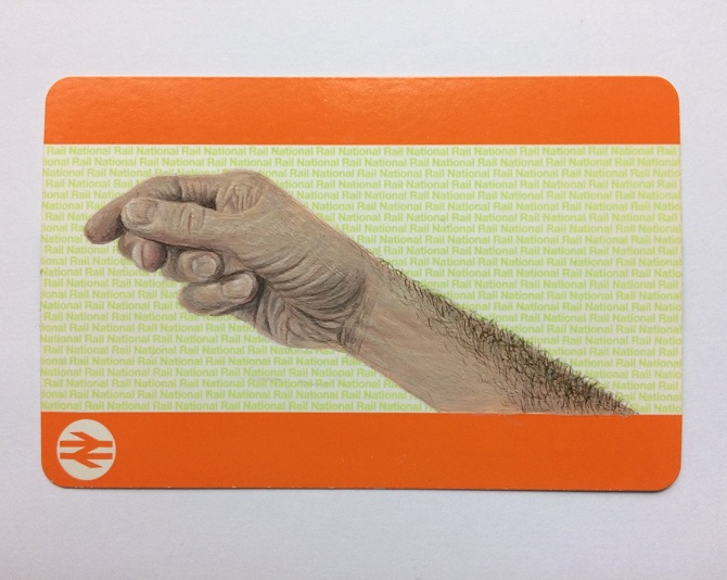 Acrylic On Blank Train Ticket 2017