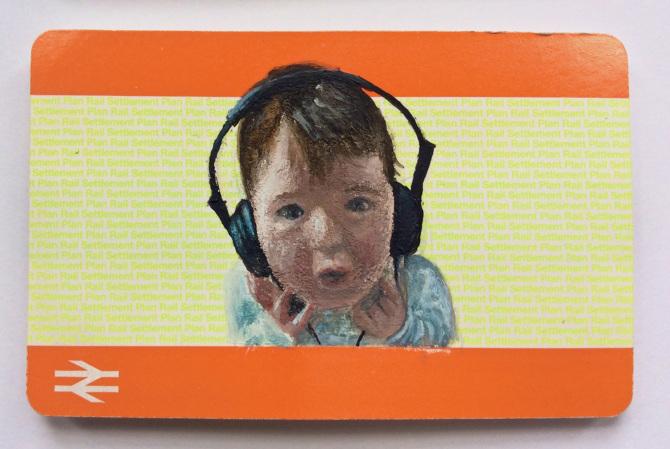Acrylic On Blank Train Ticket 2015