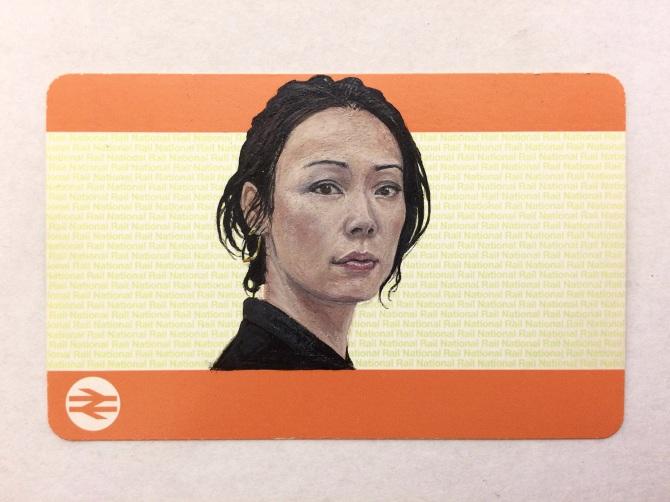 Acrylic On Blank Train Ticket 2016