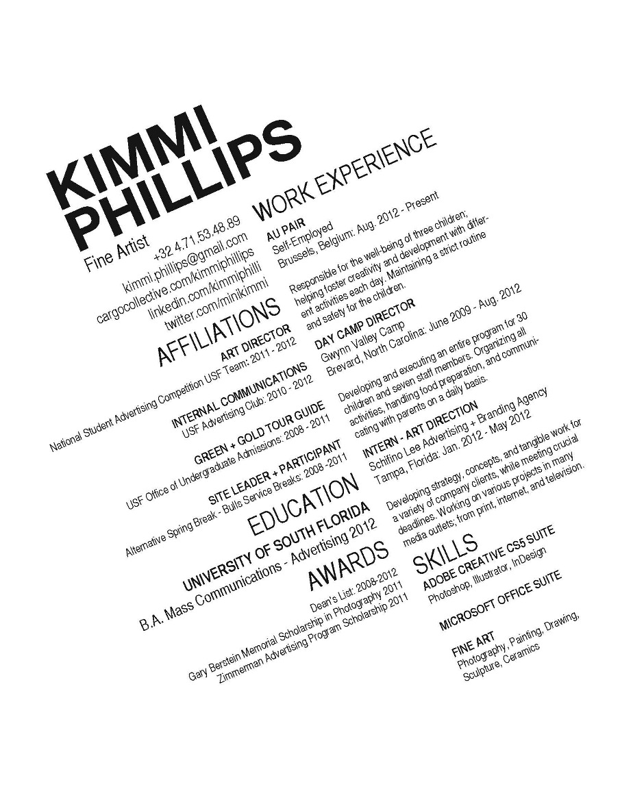 Cv Kimmi Phillips Art Director