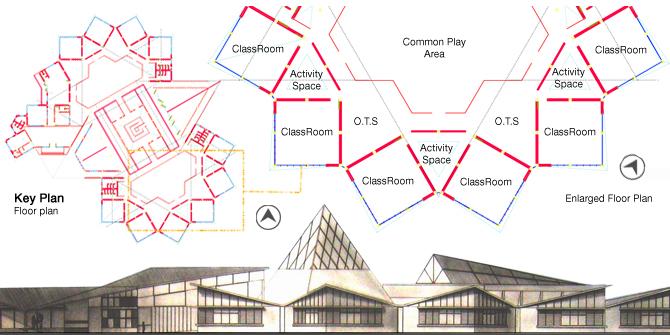 Primary School Plan Elevation : Primary school design fareeha