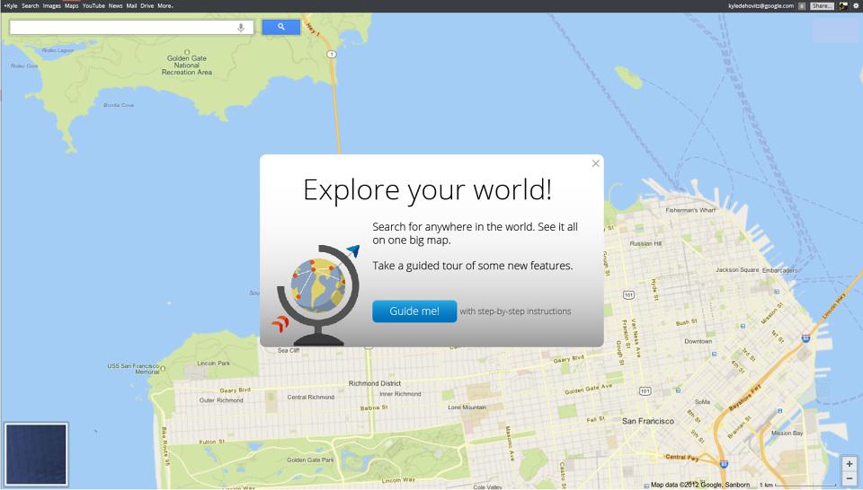 Google Maps Onboarding - Kyle DeHovitz on google maps update, google maps screenshot, google maps path,