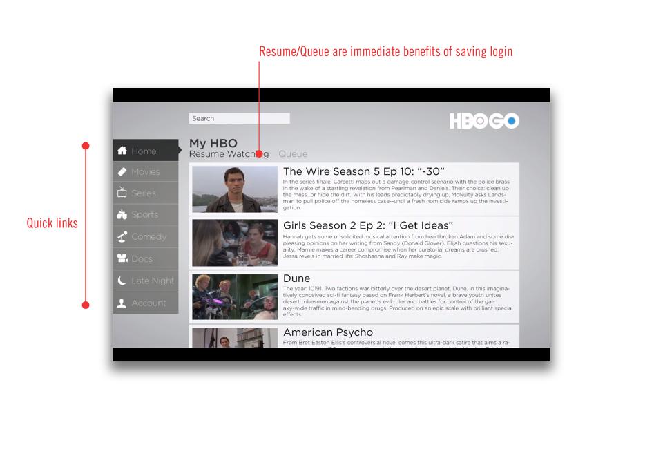 HBO Go Redesign - Kyle DeHovitz