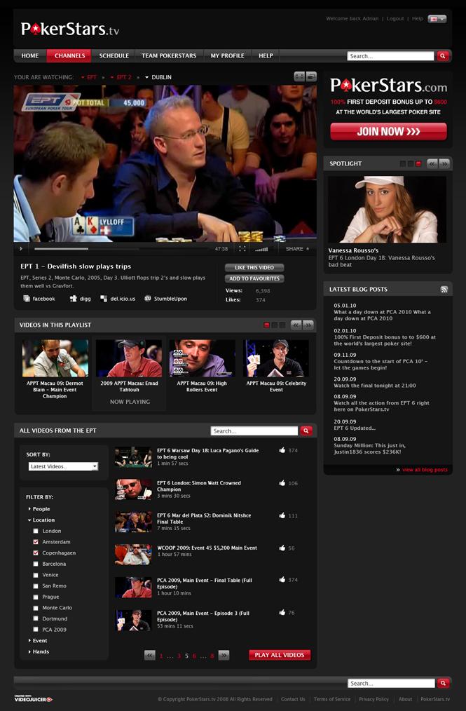 poker stars tv