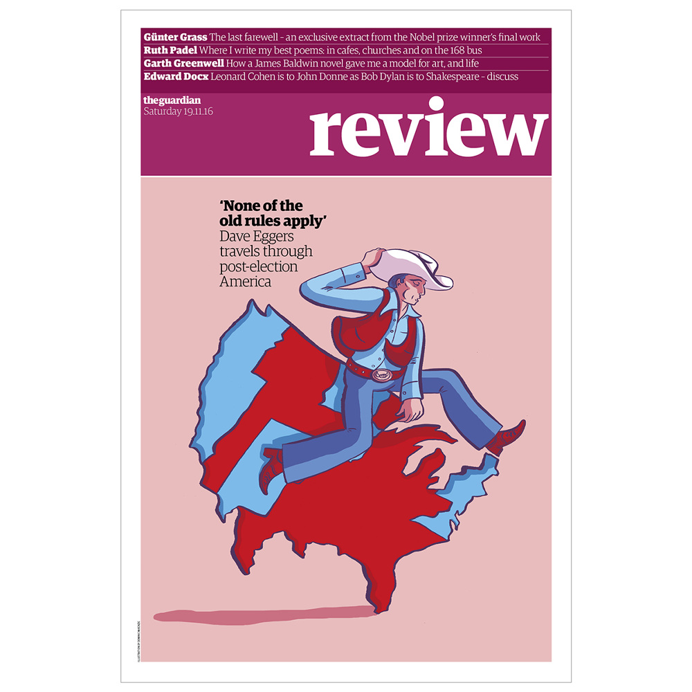 The Guardian Review Cover - Dom McKenzie Illustration & Design