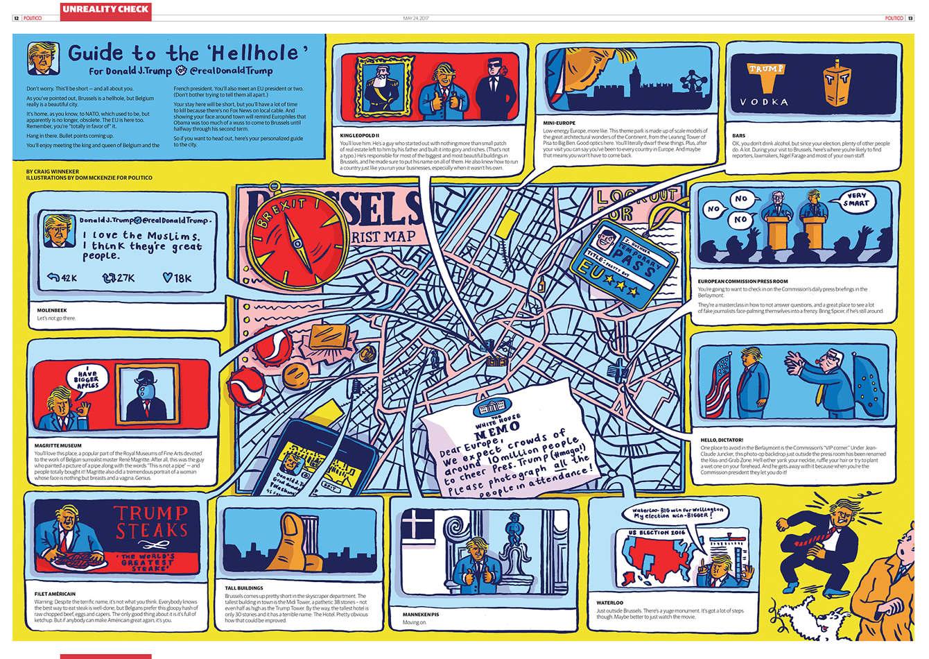 Politico Europe Trump S Hellhole Dom Mckenzie Illustration Design