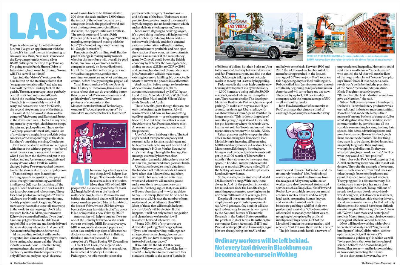 The Sunday Times Tech Issue - Dom McKenzie Illustration & Design
