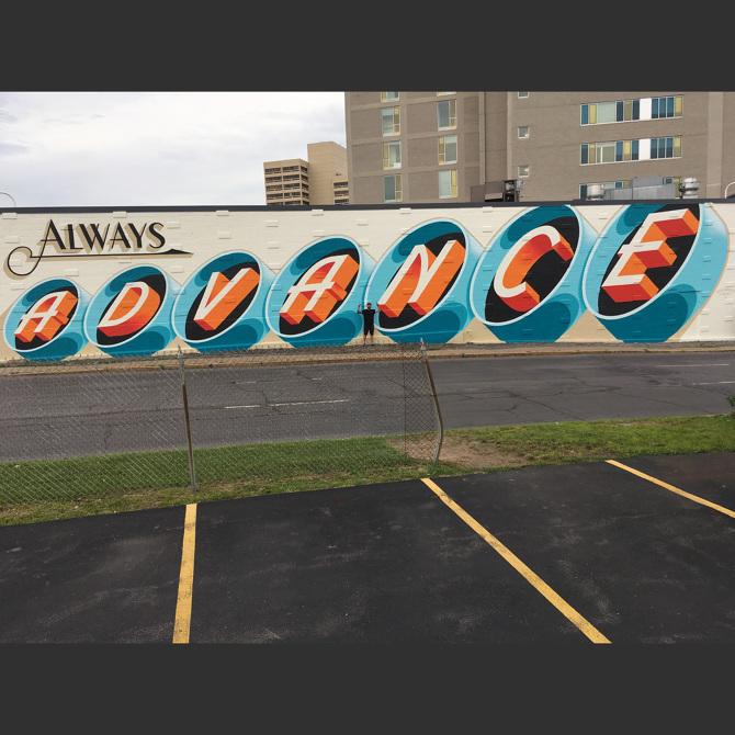 Always Advance Syracuse Public Art Mural - bestdressedsigns
