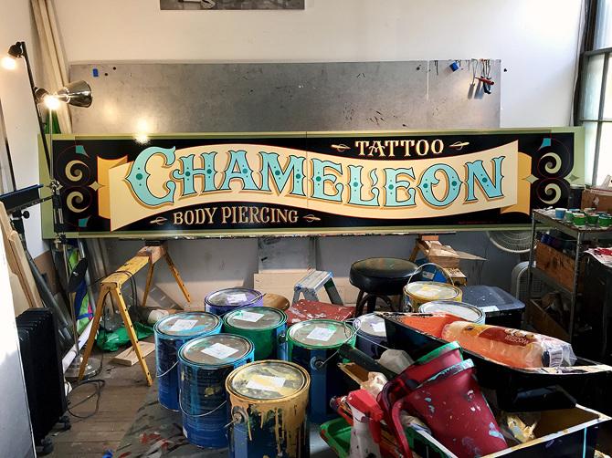 Chameleon Tattoo Body Piercing Bestdressedsignscom