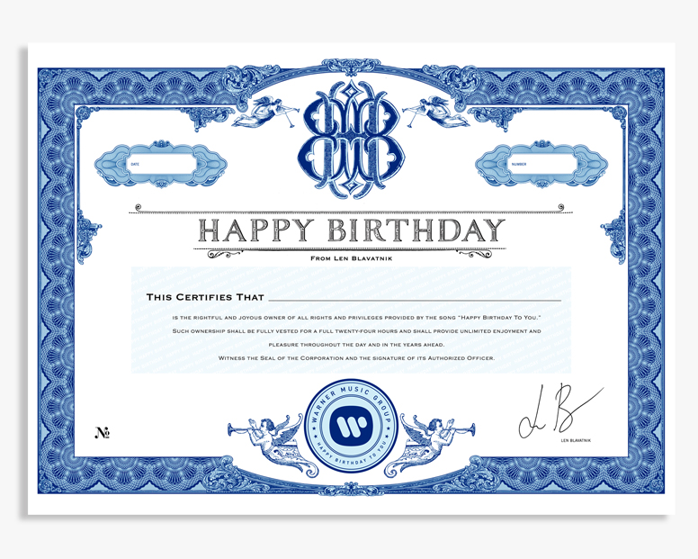 happy birthday certificate obriski