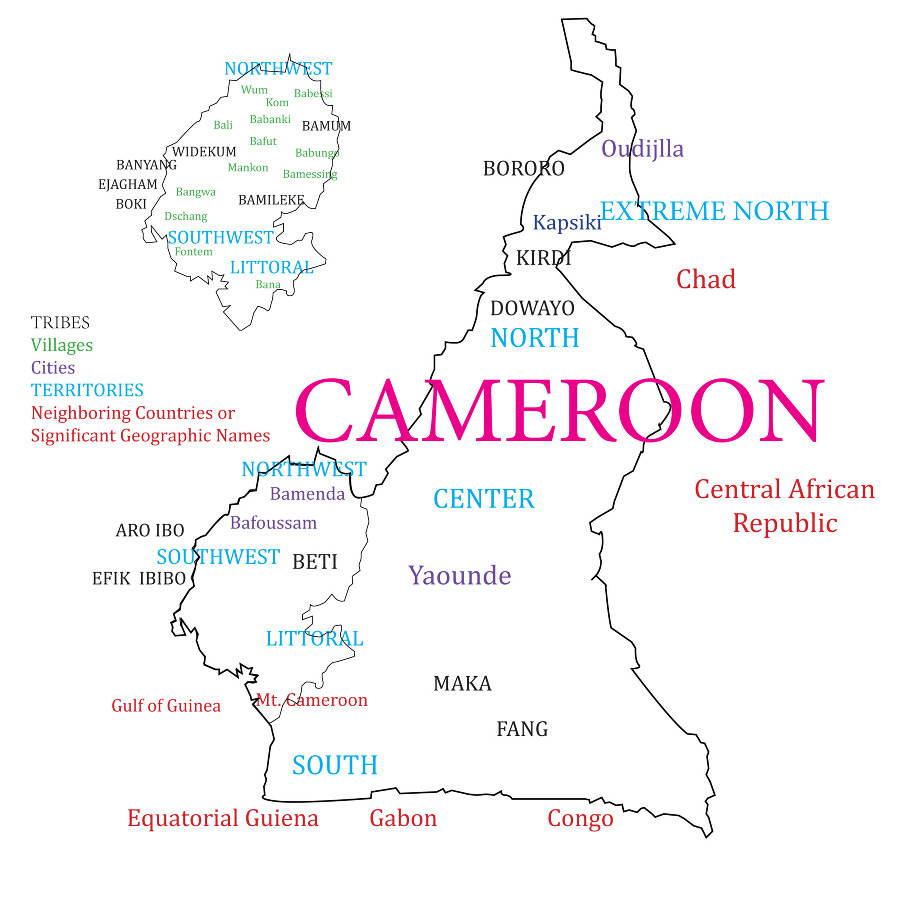 Cameroon map jenn ccuart Image collections