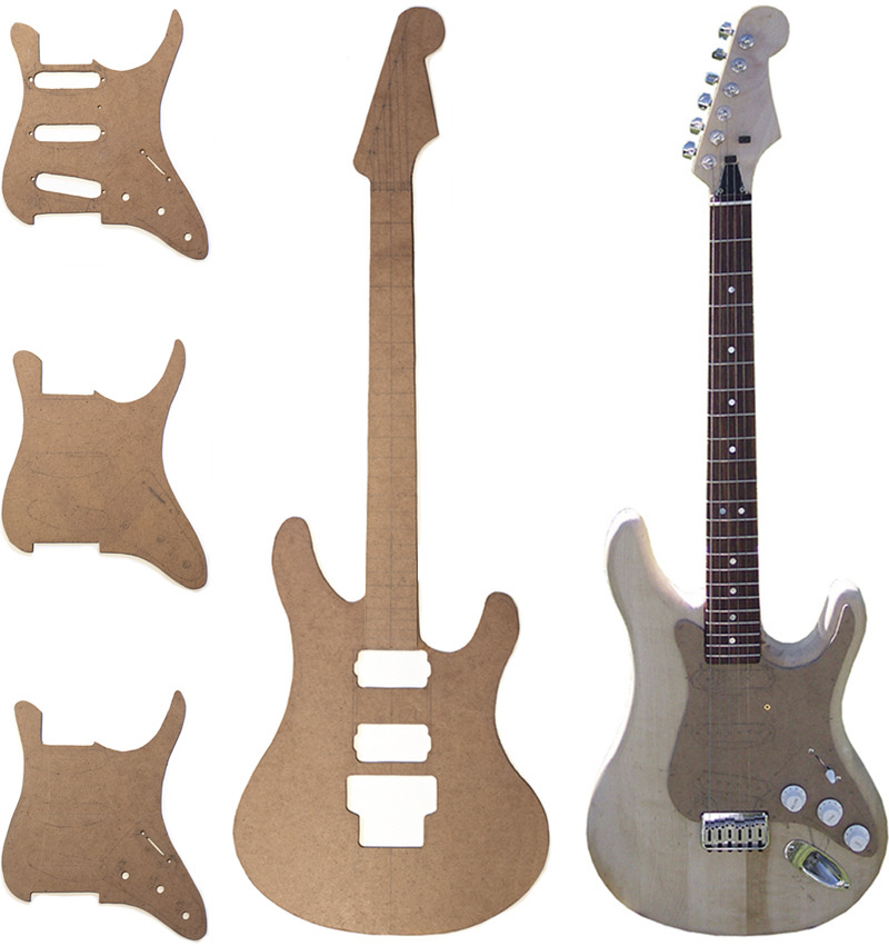 electric guitar body templates - woodworking electric guitar architecture design