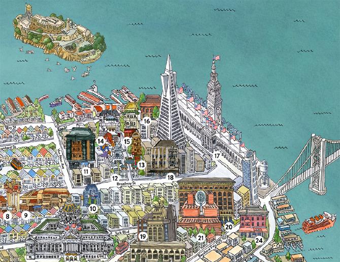 San Francisco Map The Open Company Borgarmynd