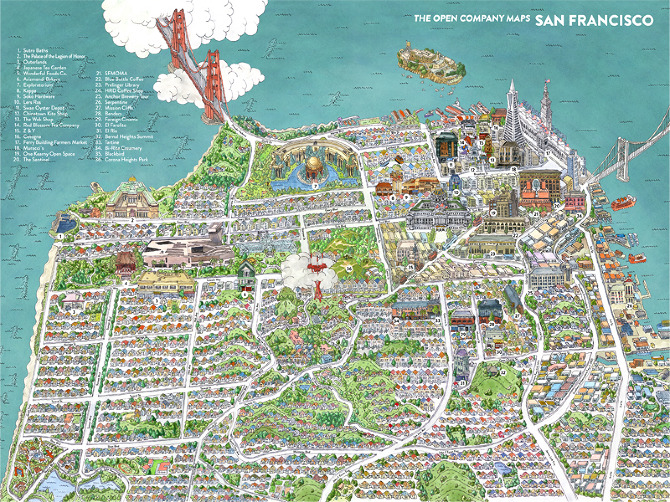 San Francisco Map - The Open Company - Borgarmynd