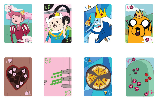 Adventure Time Playing Cards Squarexbear