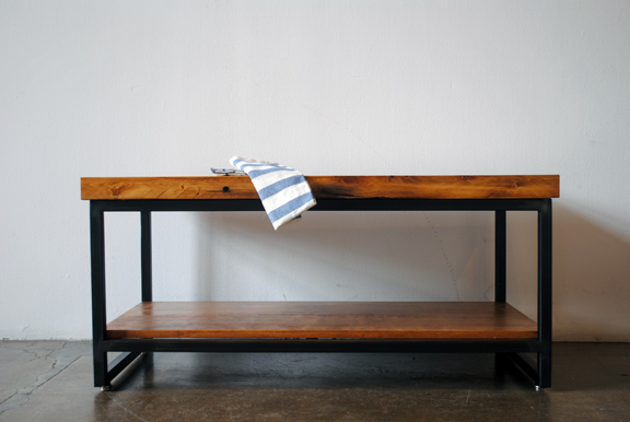 lumberjack coffee table (with shelf) - saw