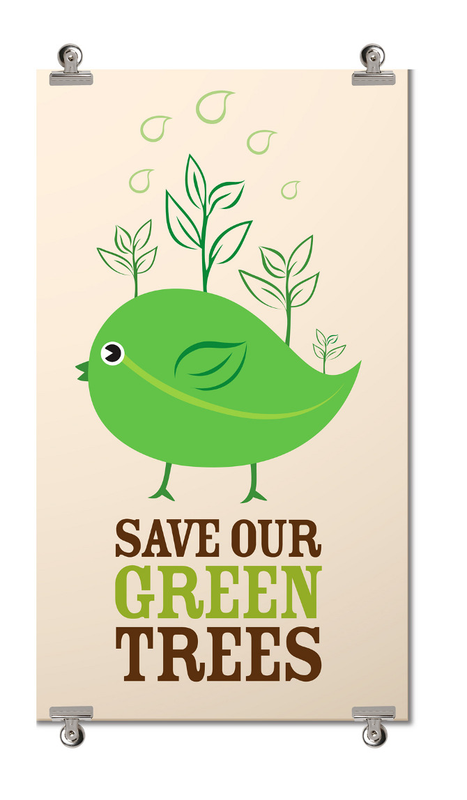 Save Our Green Trees Liwangdesign