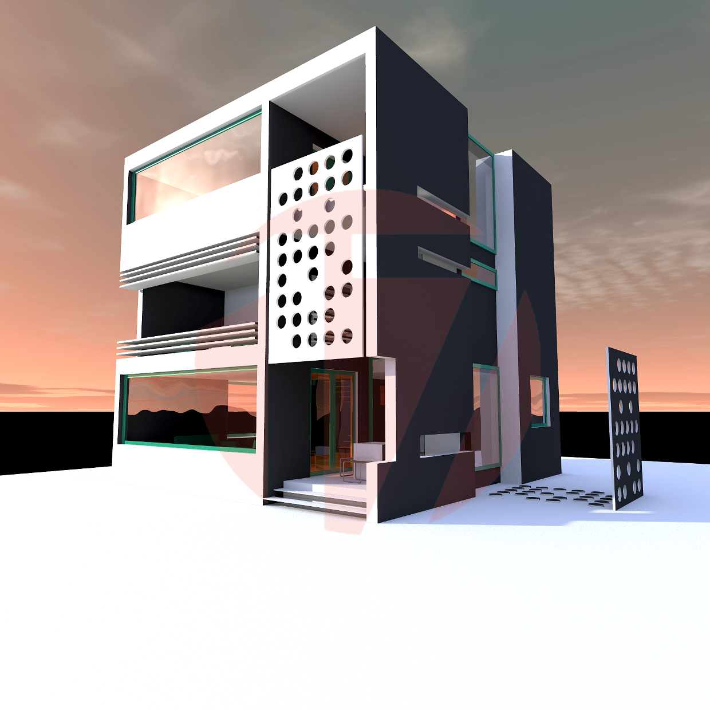 Living room modern interior design - The Cube House Www Cargocollective Com Studio17