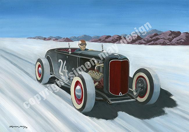 Motorsport art simon may design for Garage ford bonneville