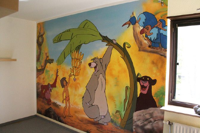 Kinderzimmer wandgestaltung dschungelbuch  Dschungelbuch - spruehlosophie - Personal network