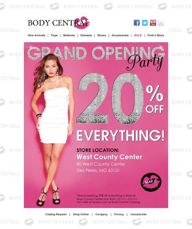 Body Central Sale >> Body Central Women S Retail Ginaangie Personal Network