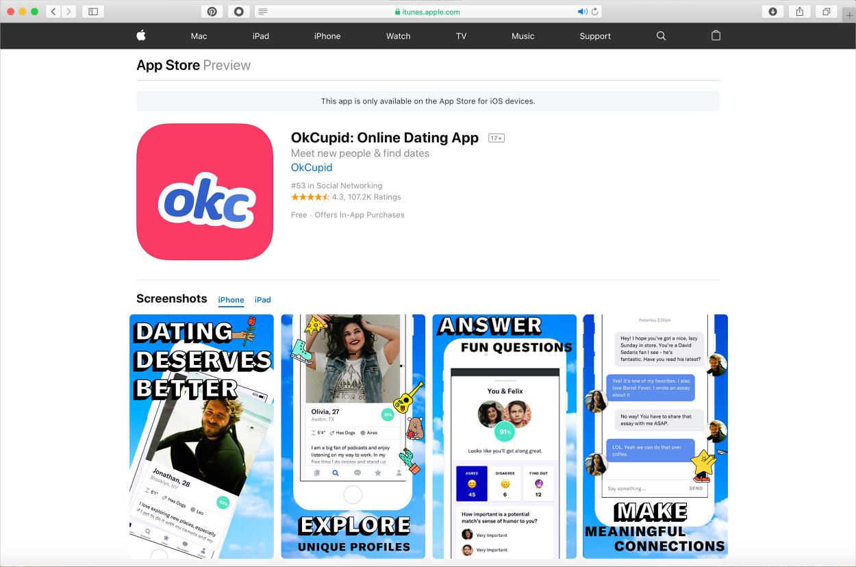 OkCupid Discovery - danadavisdesign com - Personal network