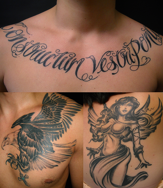 Chest Shoulder Blade Tattoos Paul Flintoff