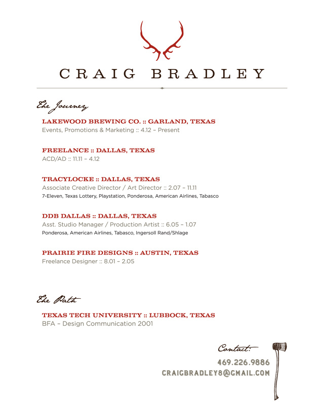 Art Director Resume   Resume Craig Bradley Art Director